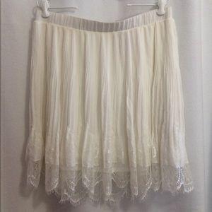 Torrid Skater Skirt Romantic Ivory Chiffon Lace